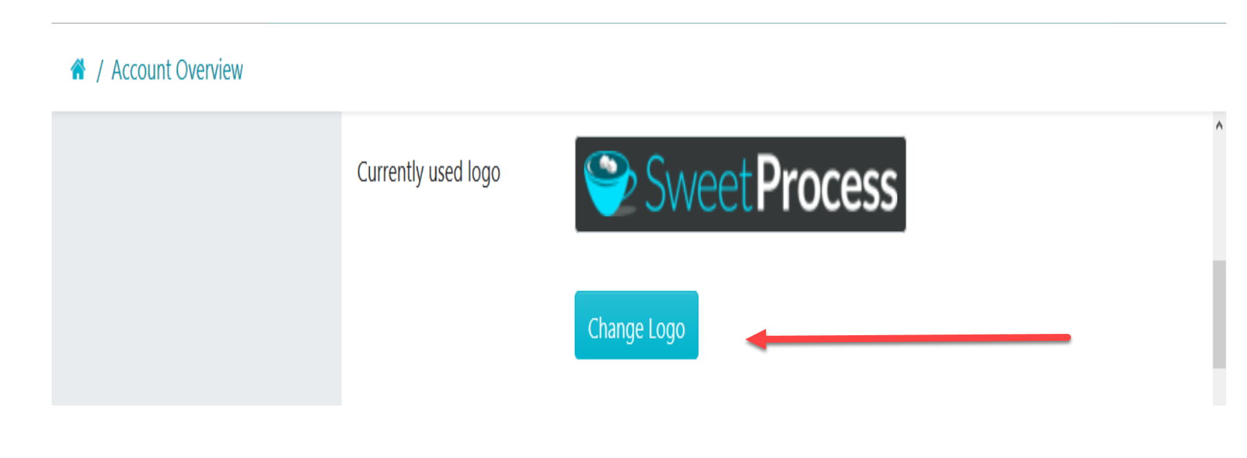 "When the new page opens up the ""Account Overview"" dashboard, Scroll down to the ""Company Information"" section and click on the ""Change Logo"" button to upload your company logo."