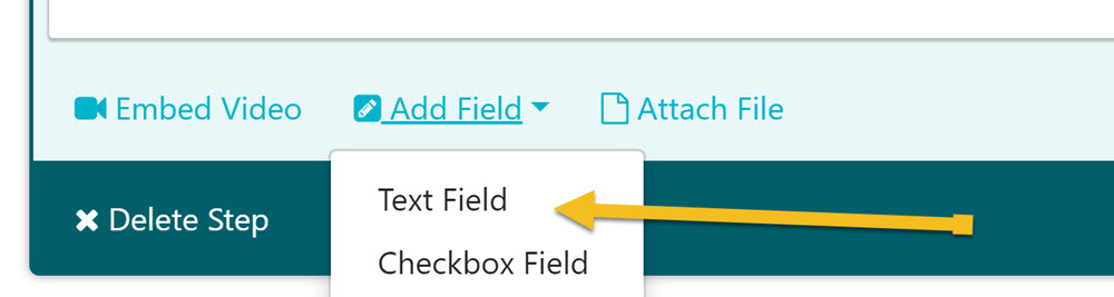Choose the type of form field(s) to use to capture data.